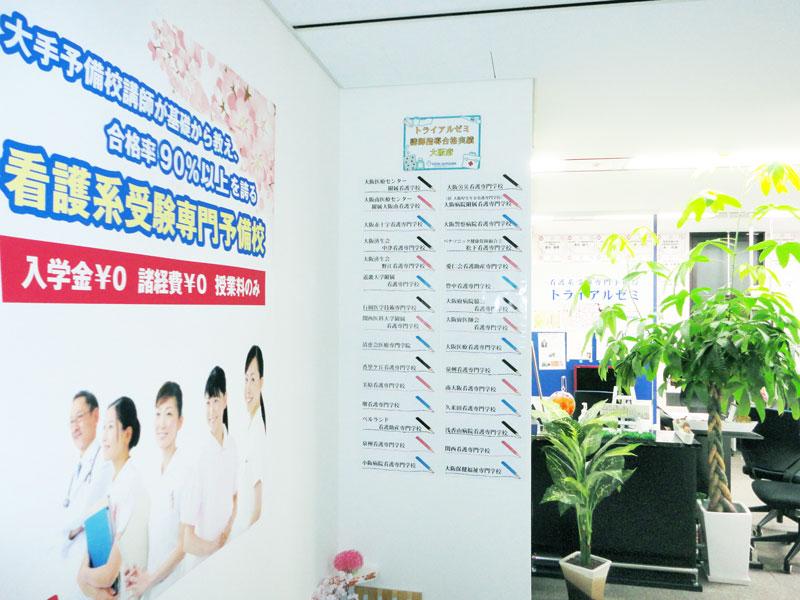 大阪の看護予備校トライアルゼミの見学